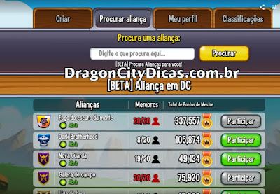 ALIANÇAS NO DRAGON CITY!