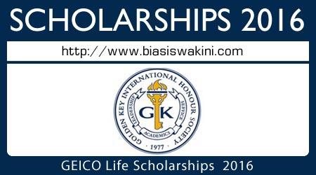 GEICO Life Scholarship 2016