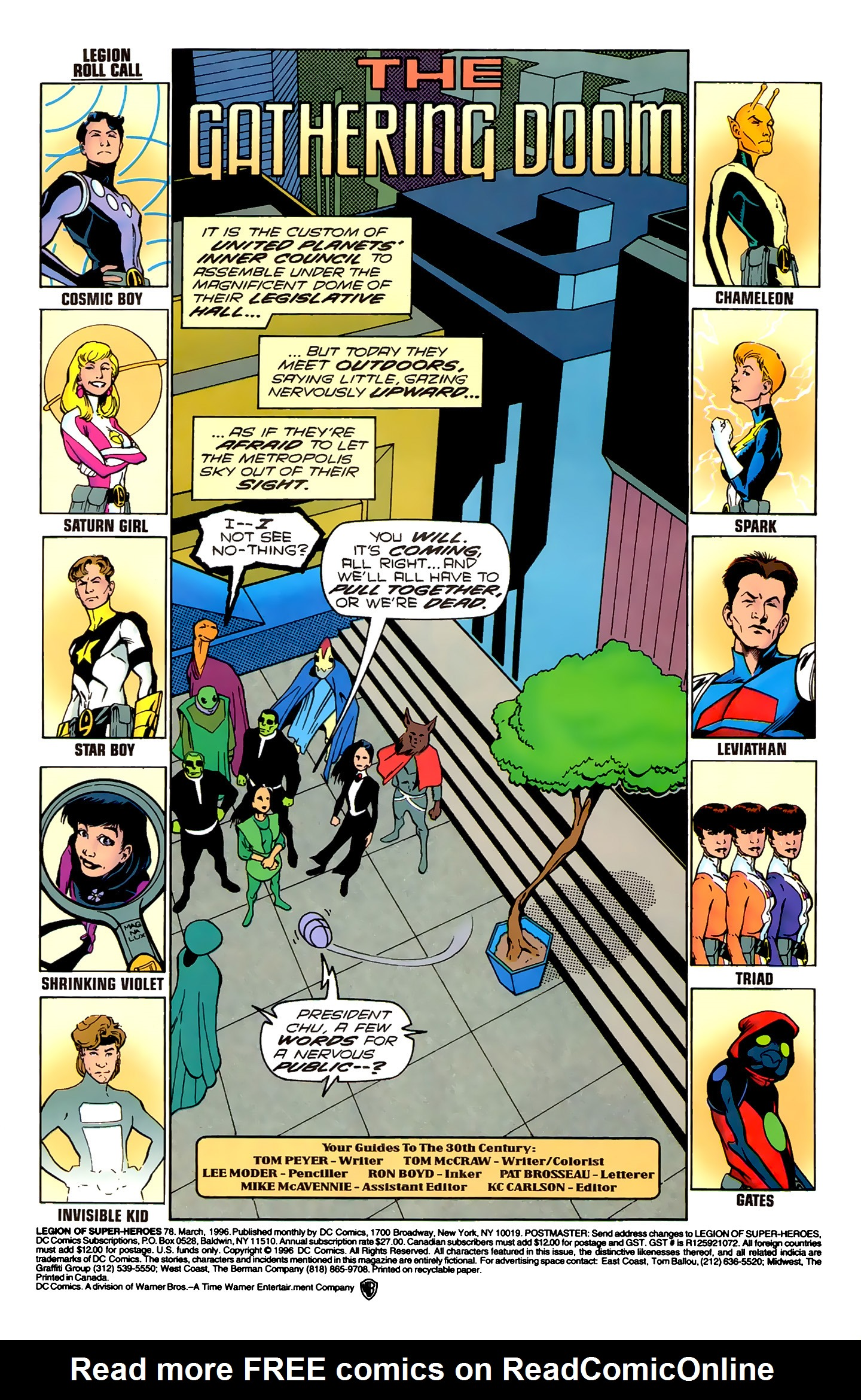 Legion of Super-Heroes (1989) 78 Page 1