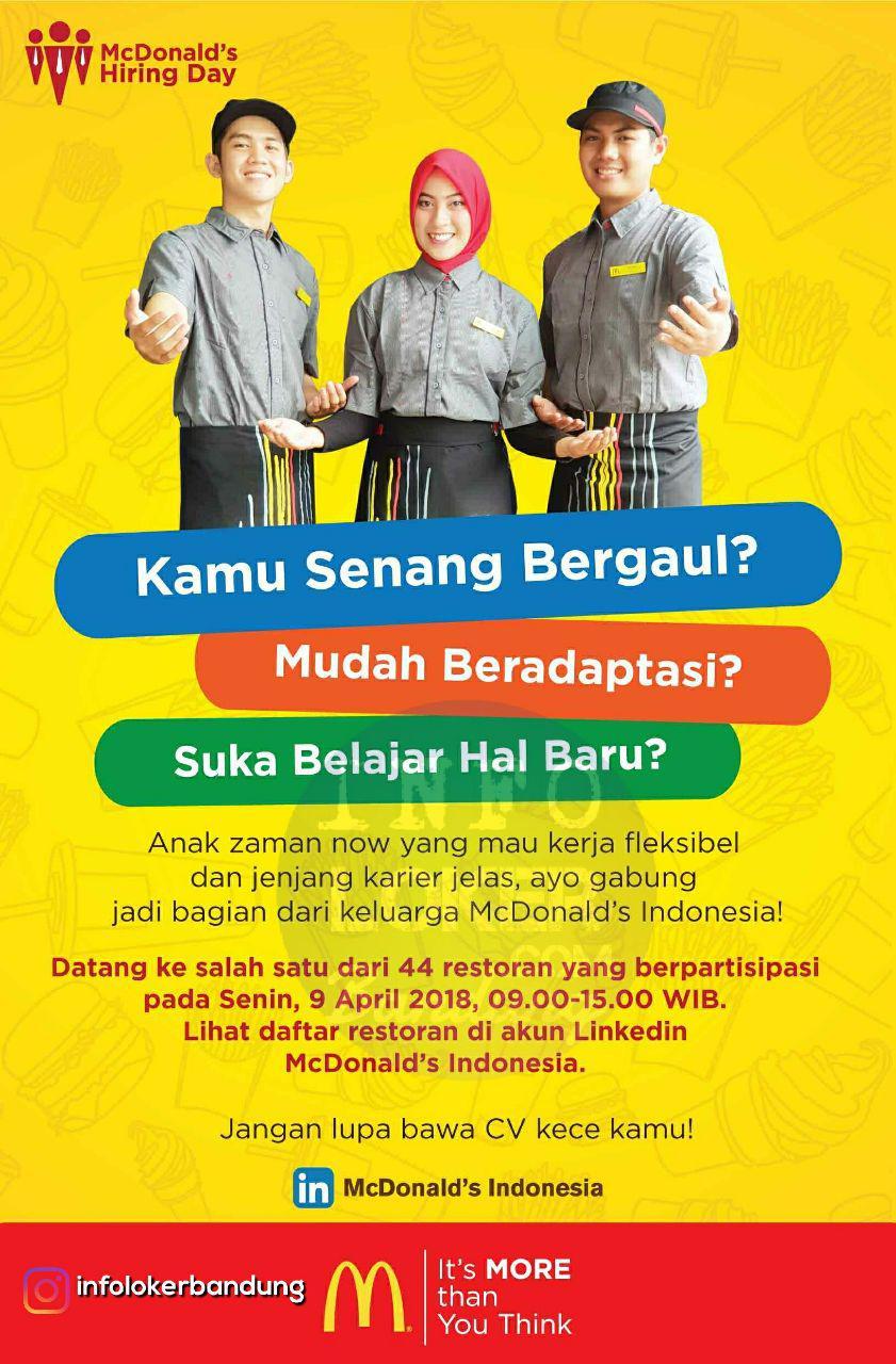 Lowongan Kerja Mc.Donalds Bandung April 2018