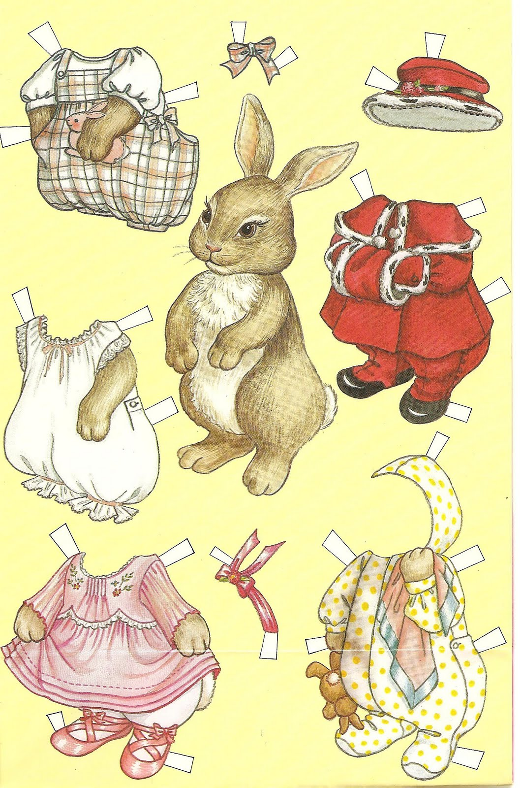 Mostly Paper Dolls A Rabbit A Day Cutie Bunny