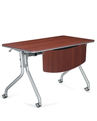 Mobilized Training Table with Flip Down Top