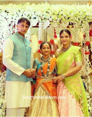 manjula-daughter-jaanu-half-saree-function
