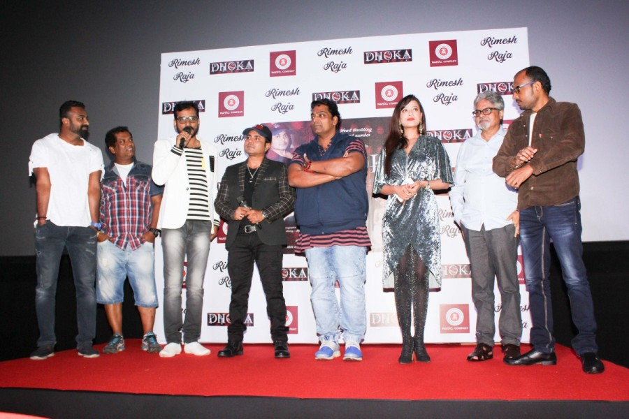 Ganesh Acharya and Madalsa Sharma at Dhoka Song Launch