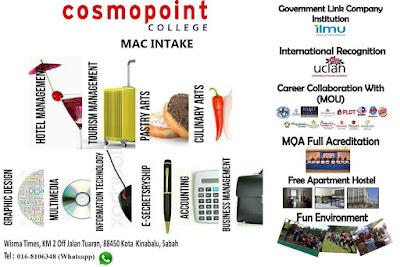 Kelebihan dan senarai program diploma di kolej cosmopoint