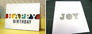 Partial die cutting using letters  - Pamela