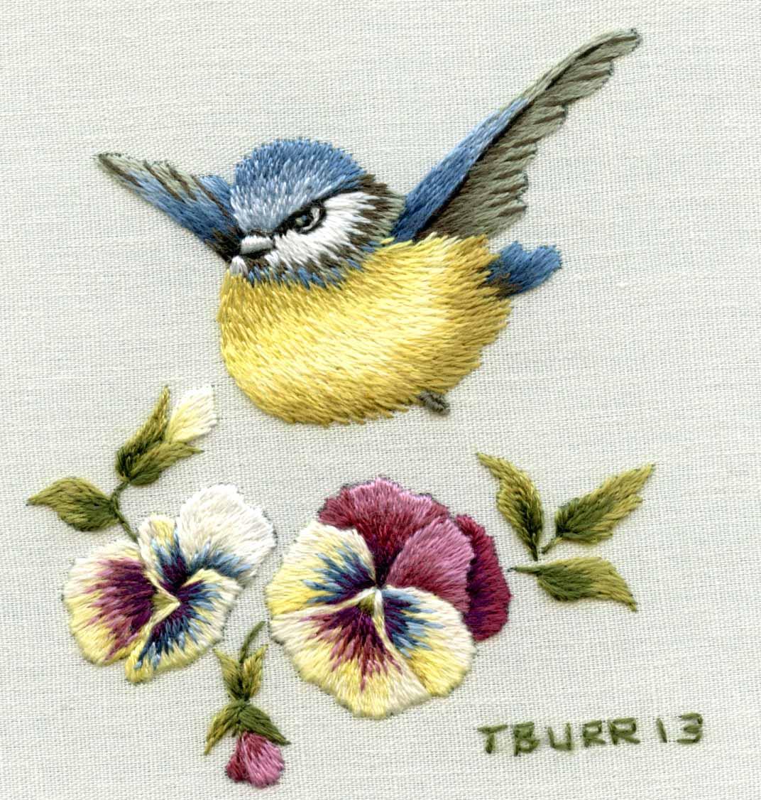 NEEDLE PAINTING EMBROIDERY_BIRDS | Joy Design Studio