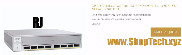 CISCO CATALYST WS-C4900M-RF MANAGED L2/L3 2U SILVER NETWORK SWITCH