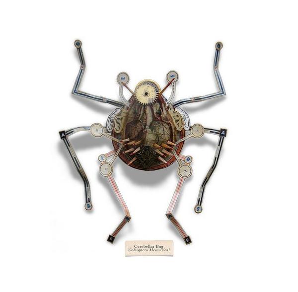 Insectos espectaculares fabricados  con cosas de la basura