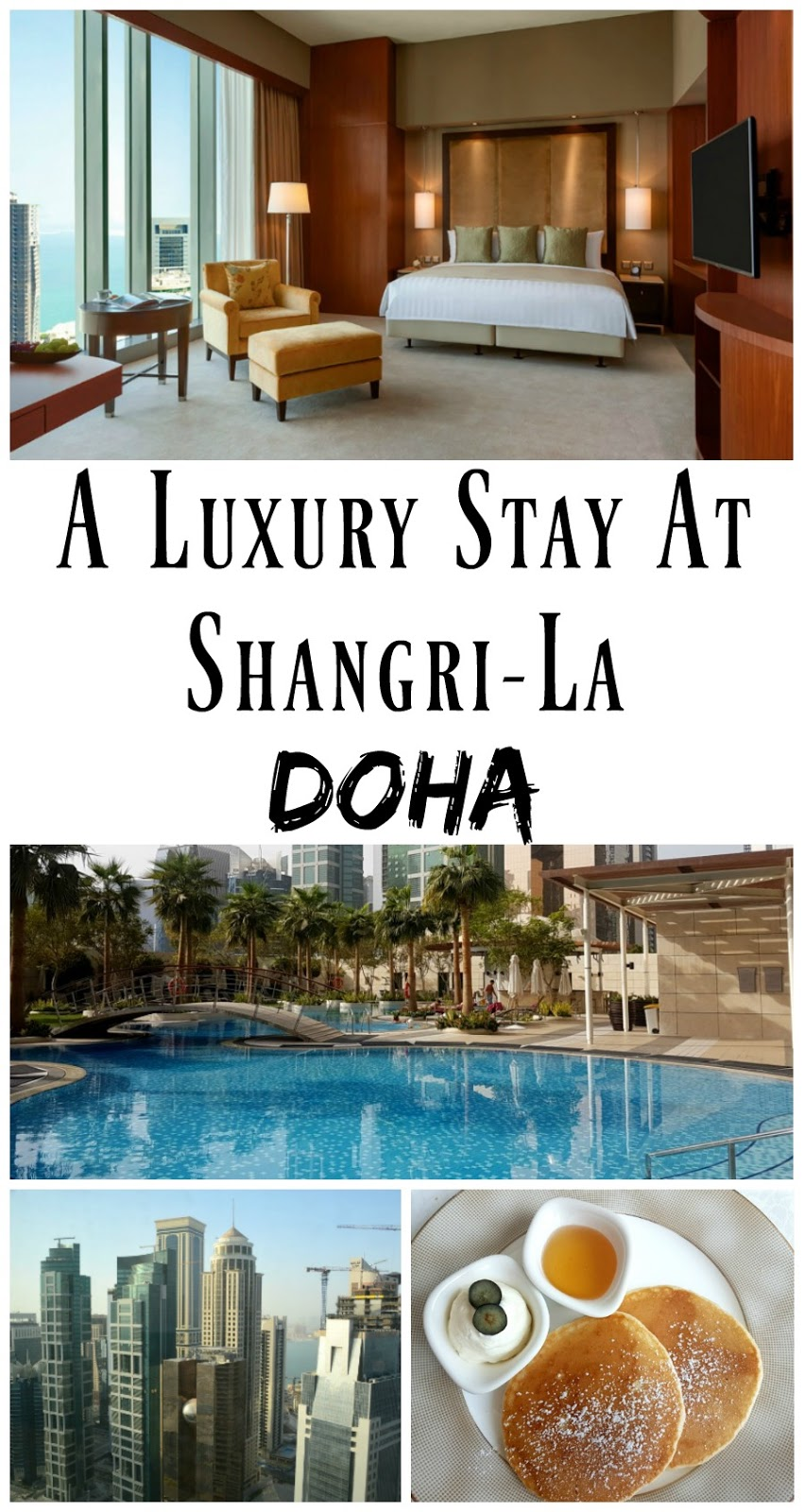 *Pin For Later* A review of the five star Shangri-La Hotel in Doha, Qatar. A stunning luxury hotel right in the heart of the city of Doha, the Shangri-La is the perfect base to explore.