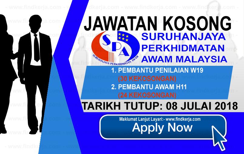 Jawatan Kerja Kosong Suruhanjaya Perkhidmatan Awam - SPA logo www.ohjob.info www.findkerja.com julai 2018