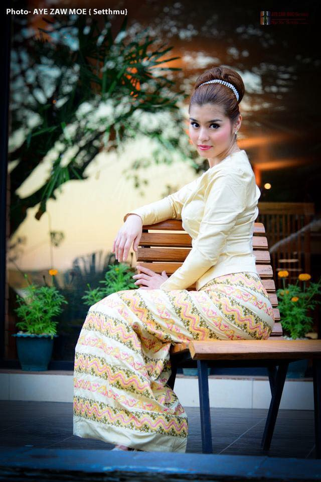Melody In Beautiful Myanmar Dress