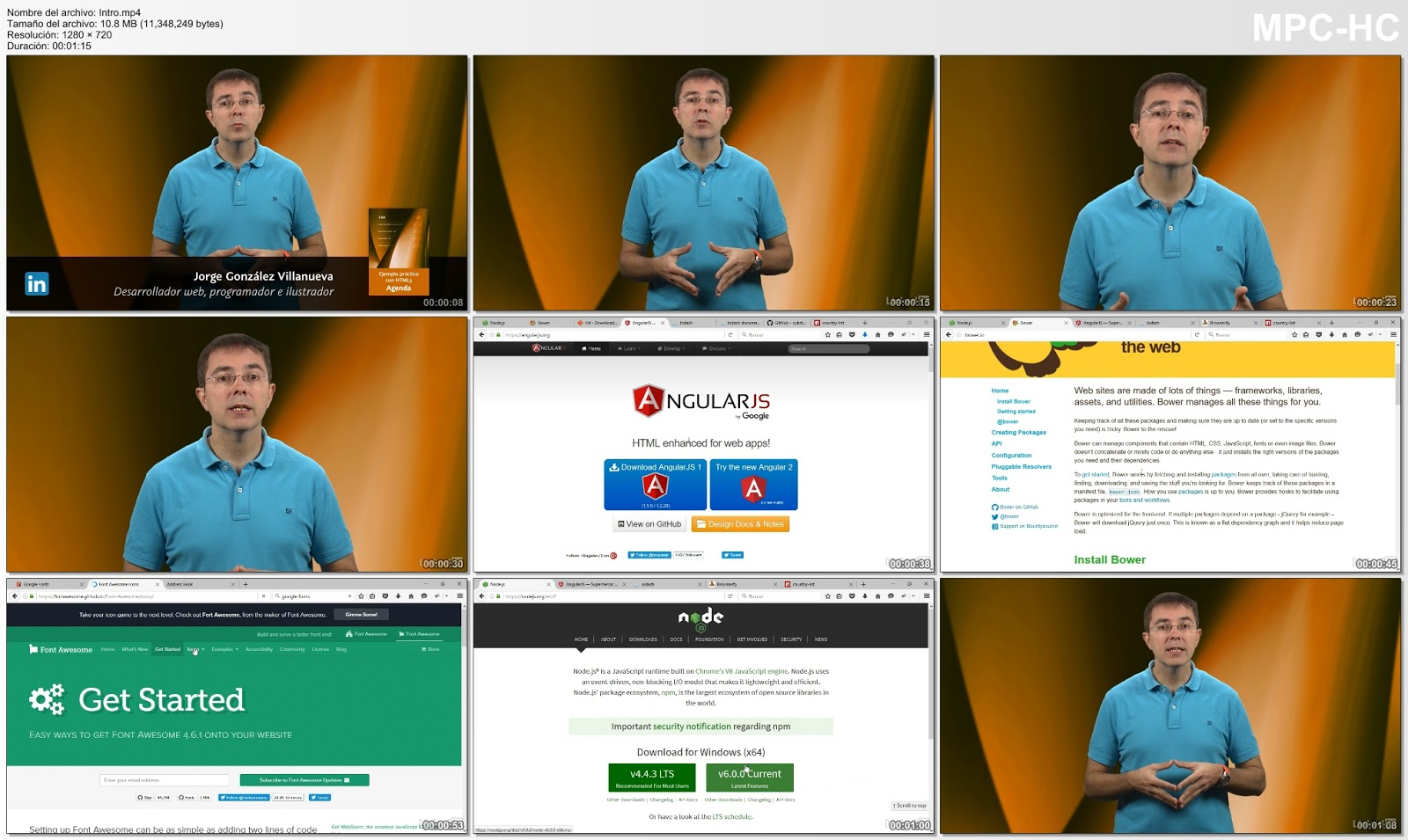 Imágenes del curso HTML práctico agenda