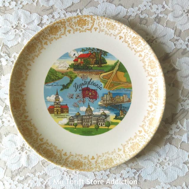 vintage souvenir state plate Pennsylvania