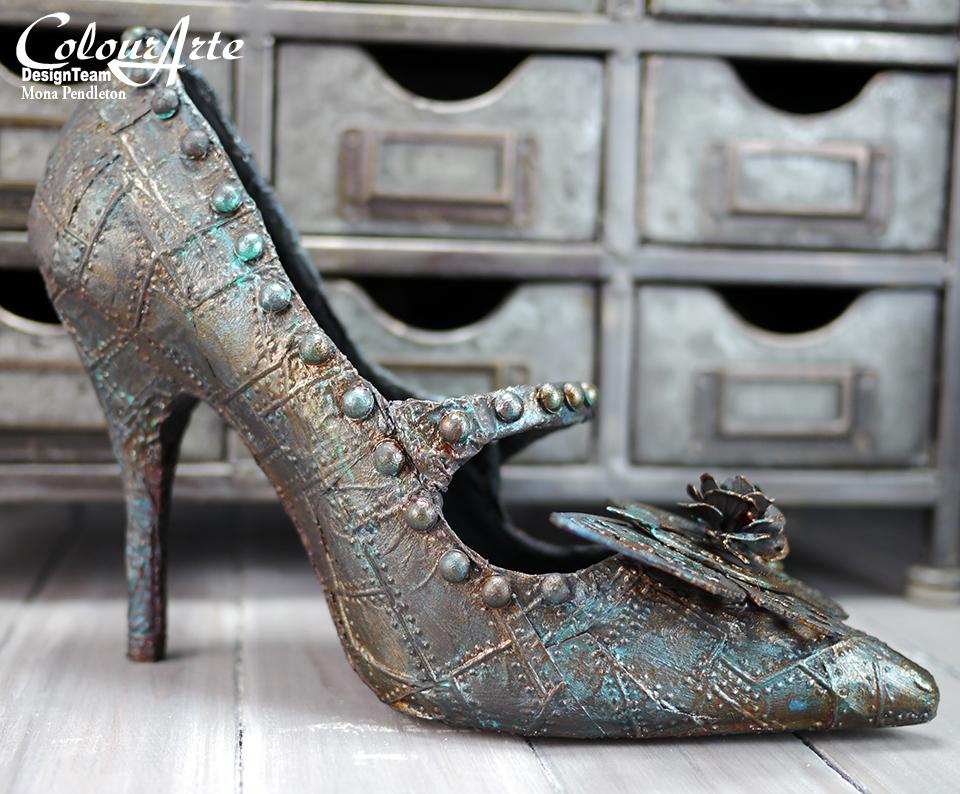Blue Shoe Paint