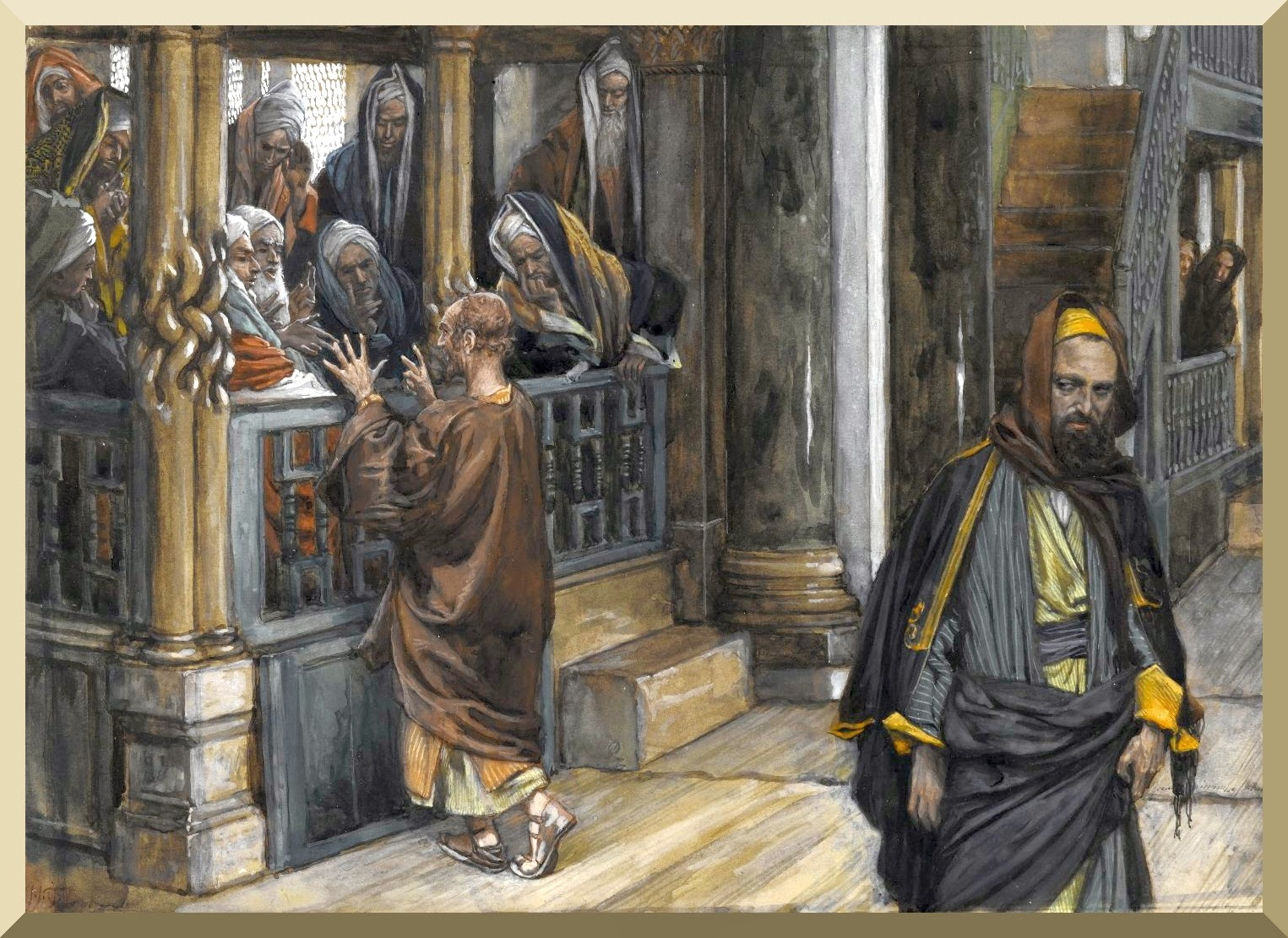 """Judas Goes to Find the Jews"" -- by James Tissot"