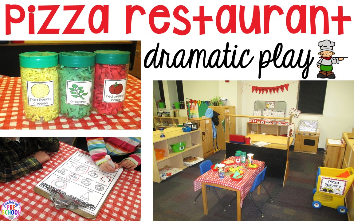 How to make your dramatic play center into a Pizza Restaurant