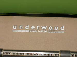 Underwood Typewriter Paper Table Decal