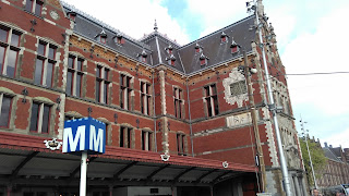 Foto vom Bahnhof Amsterdam