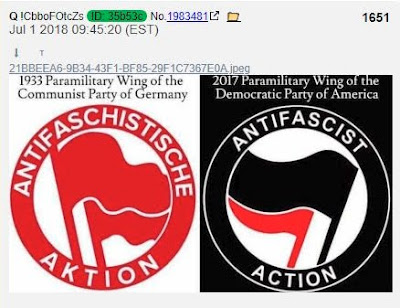 Q-PROOFS ABOUND - Global Developments Verify Q Anon as Massive and Visible Changes Unfold  Antifi%2BNazi%2BLogo