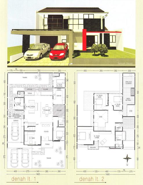 Denah Rumah Fasad Bernuansa Jepang Modern