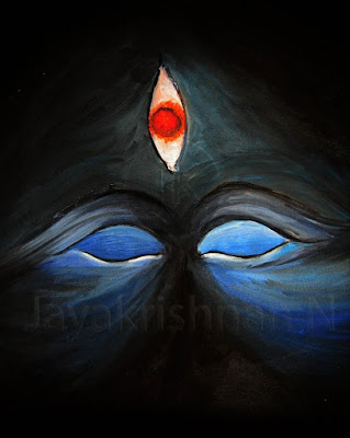 Best happy shivaratri image  with third eye