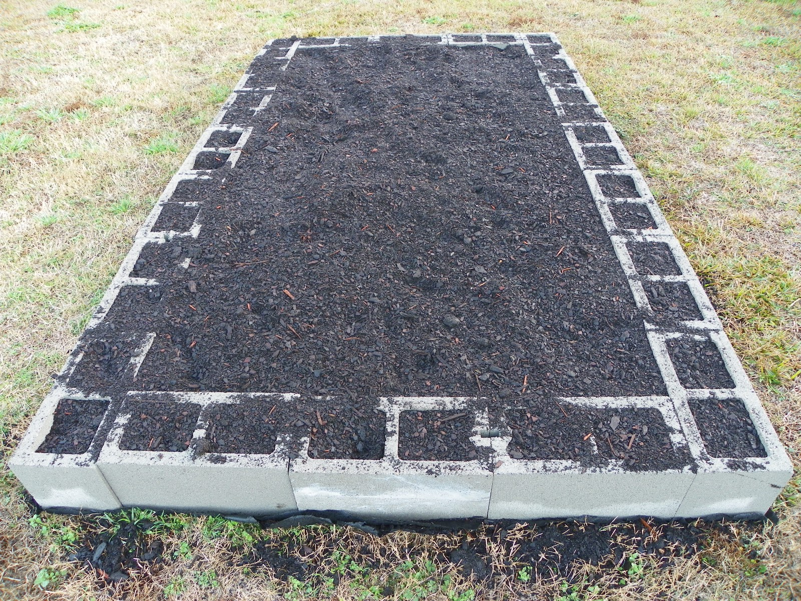 Block Garden: A Little Bit Of This And That: Raised Bed For Vegetable Garden