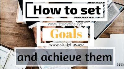 How to achieve goals