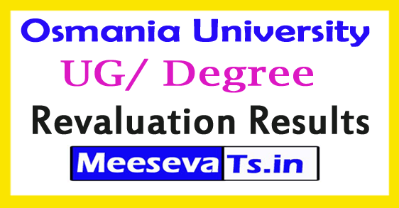 Osmania University UG/ Degree l/ll/lll Year Revaluation Results 2017