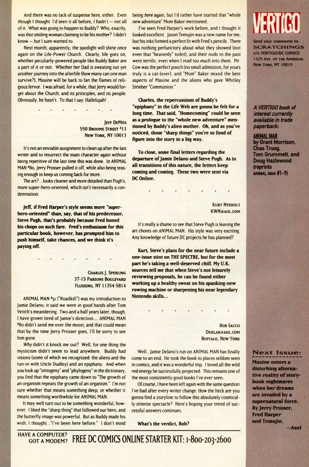 Read online Animal Man (1988) comic -  Issue #83 - 27