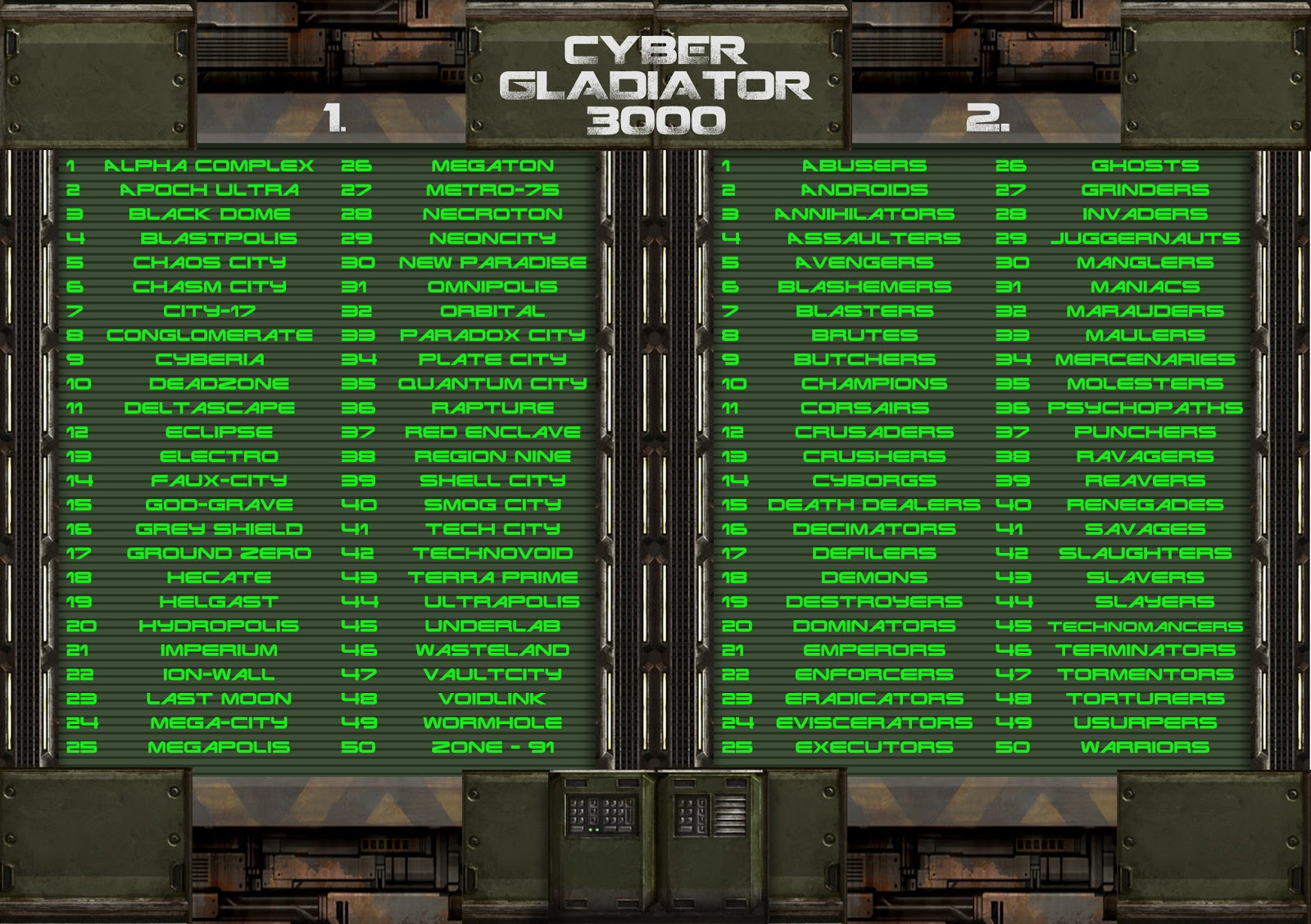 Cyber Gladiator 3000