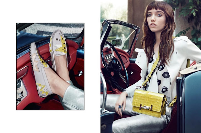 Grace Hartzel poses for Tod's Spring/Summer 2016 Campaign