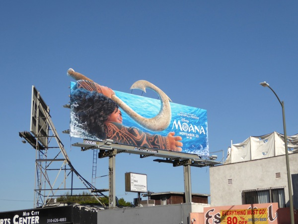 Maui Moana movie billboard