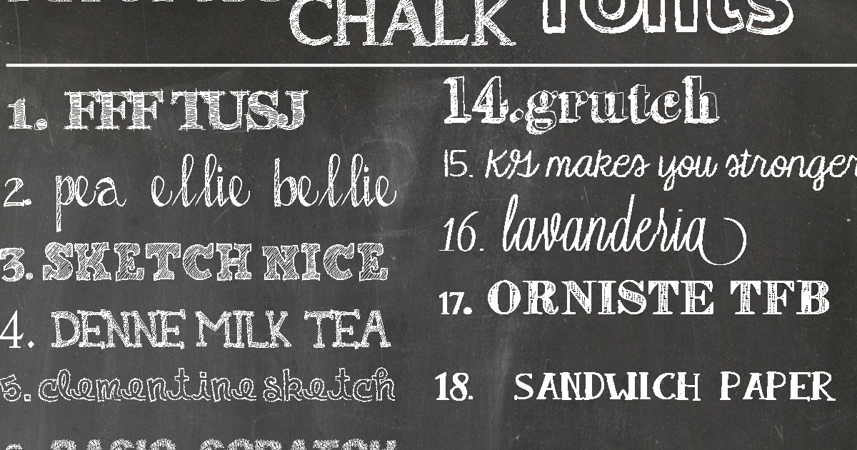 Recipes from Stephanie: Chalk Fonts