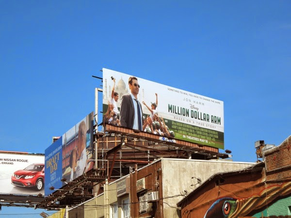 Million Dollar Arm film billboard