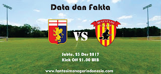 Data dan Fakta Liga Fantasia Genoa vs Benevento Fantasi Manager Indonesia