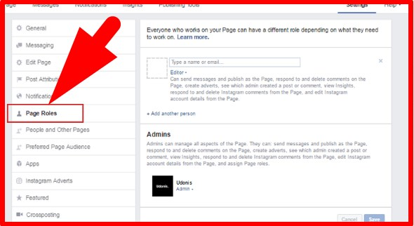 how to add admin to facebook page 2017
