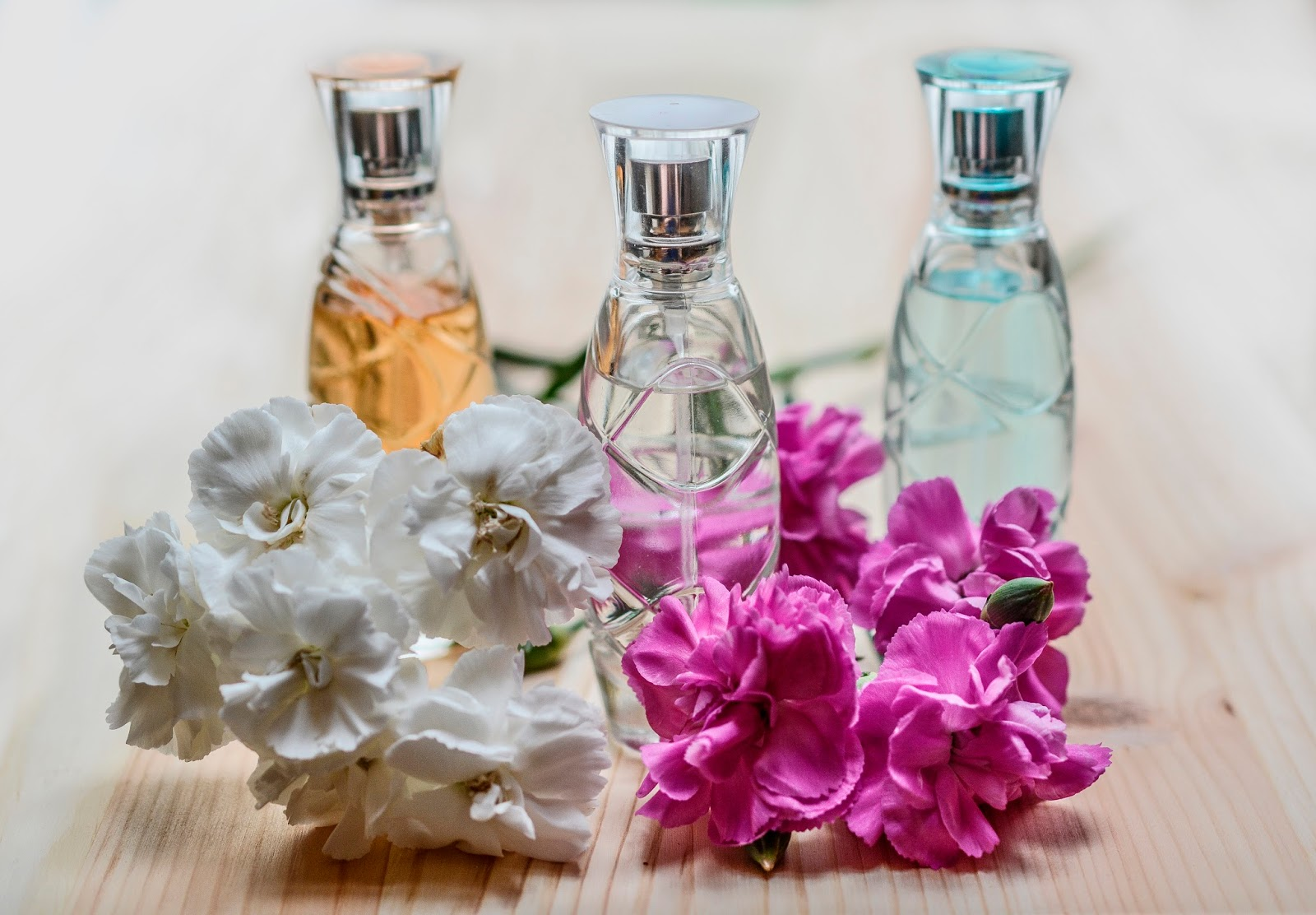 Image showing perfume bottles to illustrate article for National Fragrance Day 2017 on Is This Mutton?