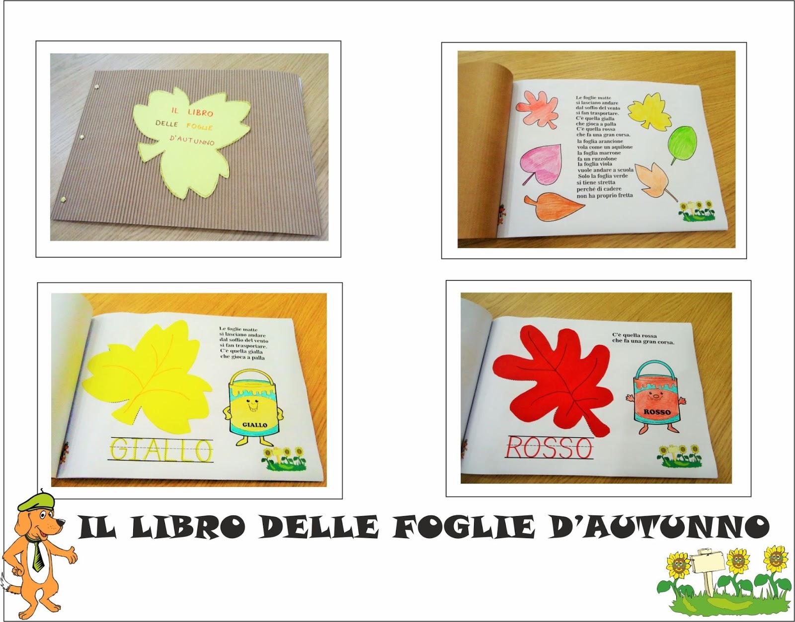 A scuola con poldo il libro delle foglie d 39 autunno - Modello di foglia per bambini ...