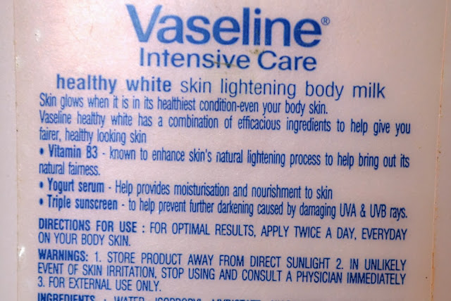 Vaseline Intense Care Healthy White Skin Lightening Body Milk Review