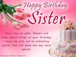 Happy Birthday Greeting for Sister