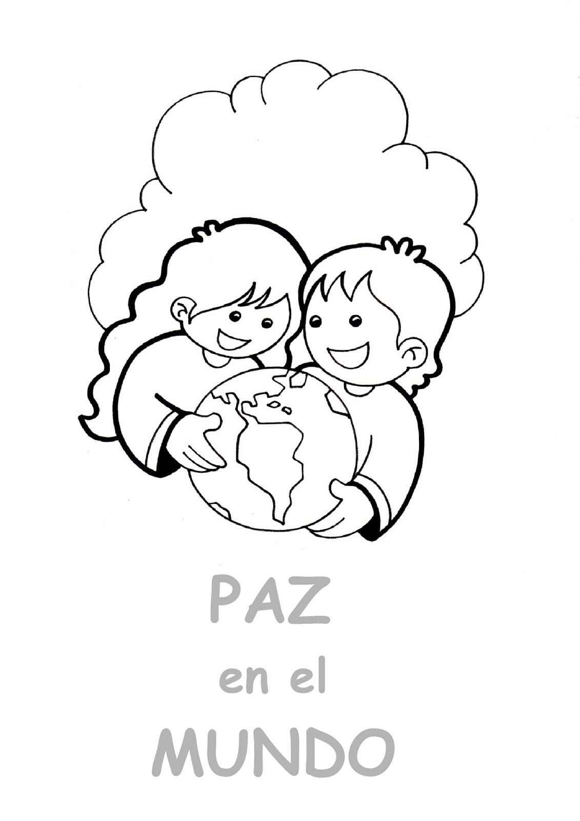 El Rincón De Las Melli Dibujo Paz En El Mundo Para Los