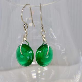 Spring Green Earrings by BayMoonDesign