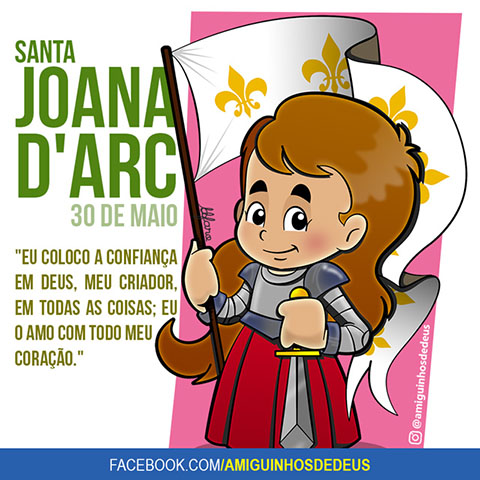 Santa Joana D'Arc desenho