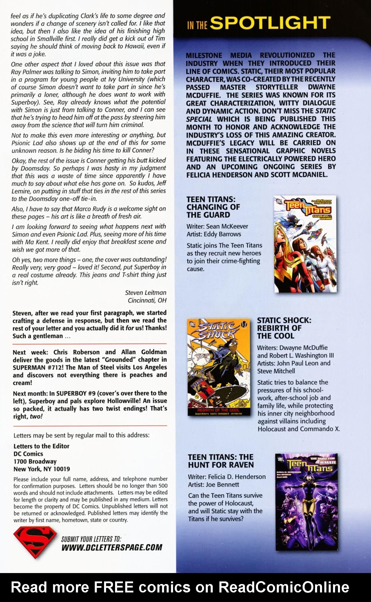 Superboy [I] Issue #8 #8 - English 44