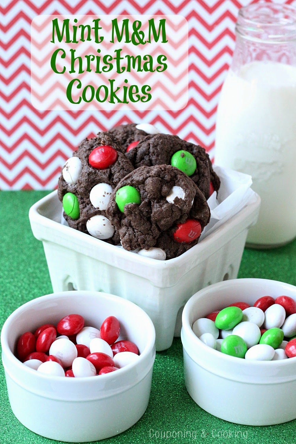 Tobins' Tastes: Mint M&M Chocolate Christmas Cookies