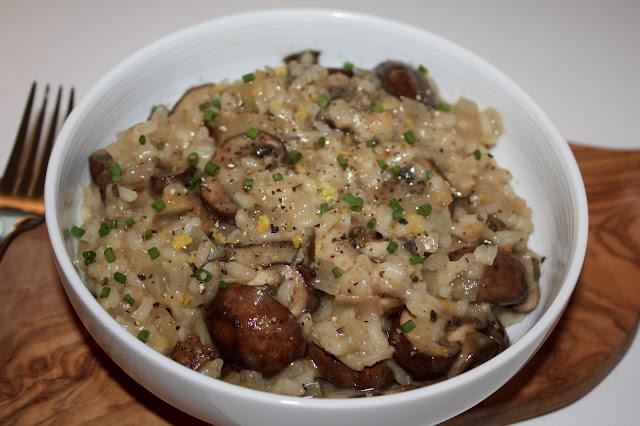 Easy and Healthy Mushroom Risotto Recipe, Vegetarian, Vegan