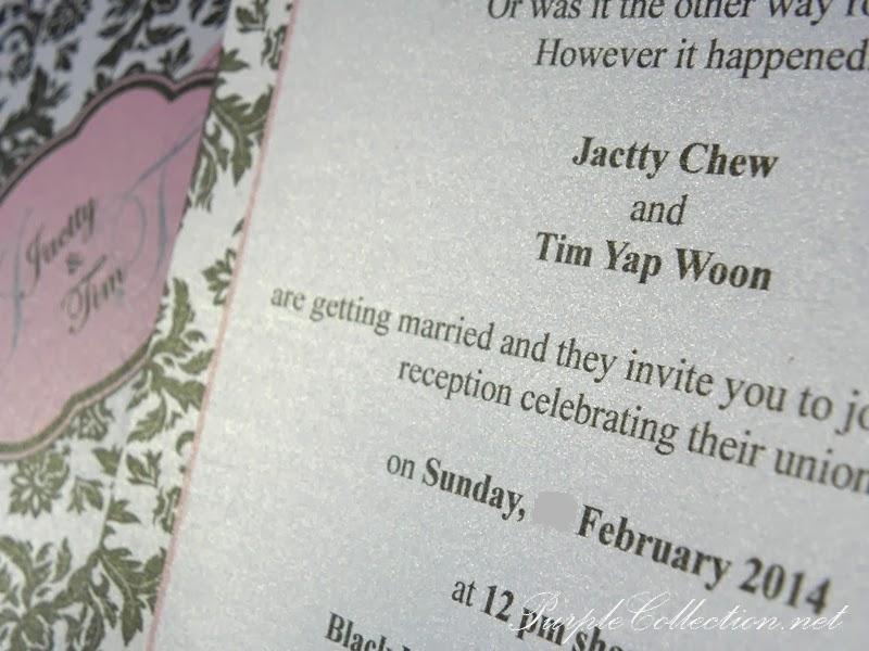 wedding card, flat, black damask, kuala lumpur, malaysia, selangor, western, modern, unique, pearl white 250g, print, elegant, envelope, kad kahwin