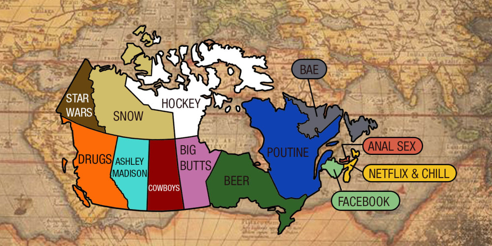 What each province In Canada googled the most (2015)