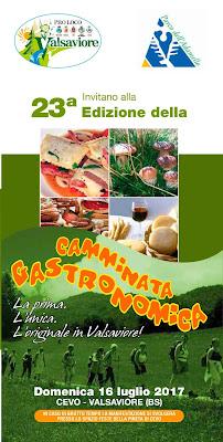 Camminata gastronomica in Valsaviore 16 luglio Cevo Valsaviore (BS)